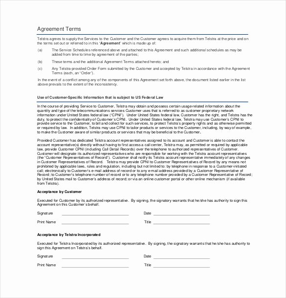 Service Agreement Template Pdf Lovely 22 Service Agreement Templates – Word Pdf Apple Pages