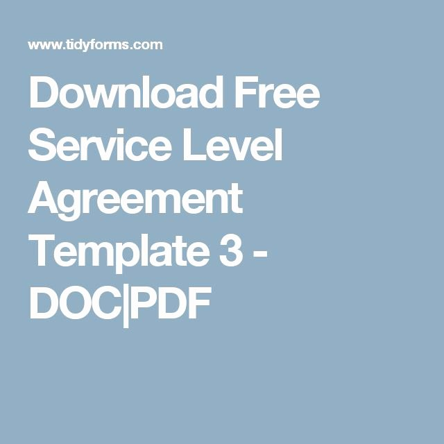 Service Agreement Template Pdf Lovely Download Free Service Level Agreement Template 3 Doc Pdf