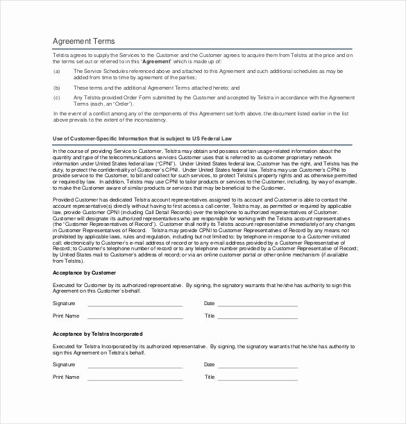 Service Agreement Template Pdf New Business Service Contract Template – Contract Templates