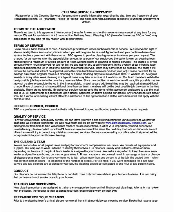 Service Agreement Template Pdf Unique Sample Service Agreement Contract 9 Examples In Word Pdf