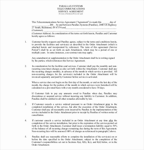 Service Agreement Template Word Awesome 36 Service Agreement Templates Word Pdf