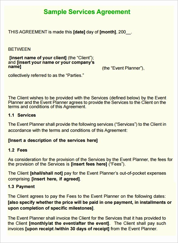 Service Agreement Template Word Beautiful 16 Service Contract Templates Word Pages Google Docs