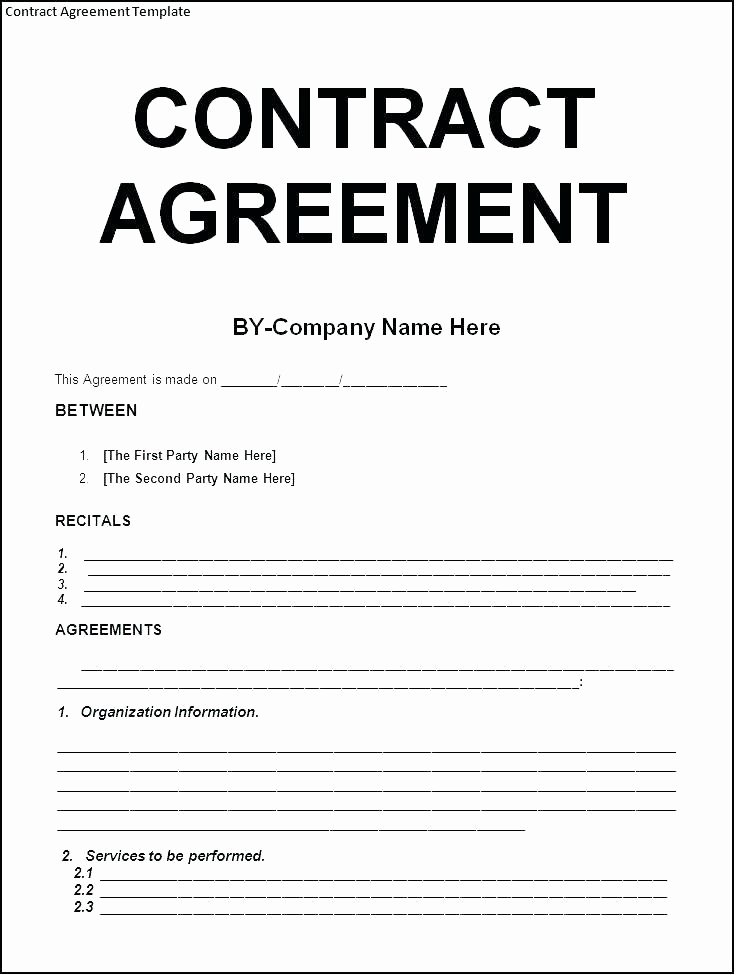 Service Agreement Template Word Inspirational 8 9 Transport Agreement format In Word