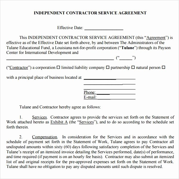 Service Agreement Template Word Inspirational Free 18 Service Agreement Templates In Google Docs