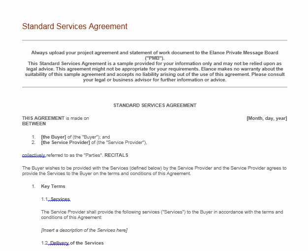 Service Agreement Template Word Unique Professional Services Agreement Templates 24 Free