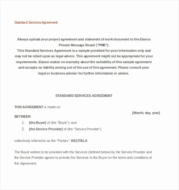 Service Contract Template Pdf Fresh 36 Service Agreement Templates Word Pdf