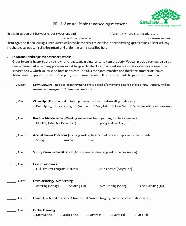 Service Contract Template Word Awesome Maintenance Agreement Templates 11 Free Word Pdf