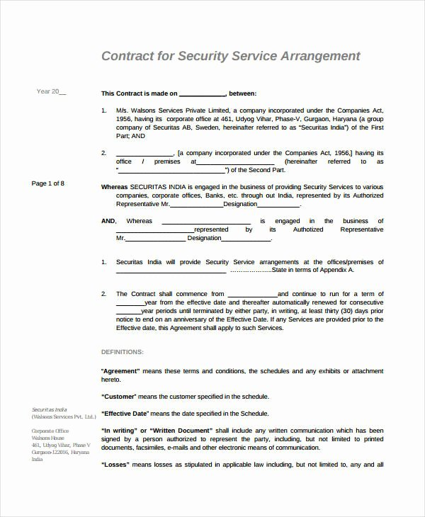 Service Contract Template Word Lovely 21 Simple Service Agreements Word Pdf
