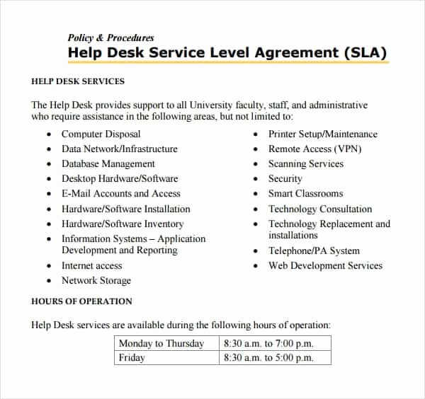 Service Level Agreement Template Awesome top 5 Resources to Get Free Service Level Agreement