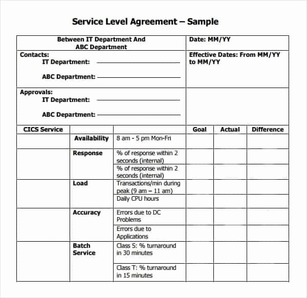 Service Level Agreement Template Fresh top 5 Resources to Get Free Service Level Agreement