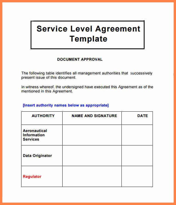 Service Level Agreement Template Lovely 4 Customer Service Level Agreement Template