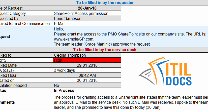 Service Request form Template Elegant Service Request form Template – Itil Docs