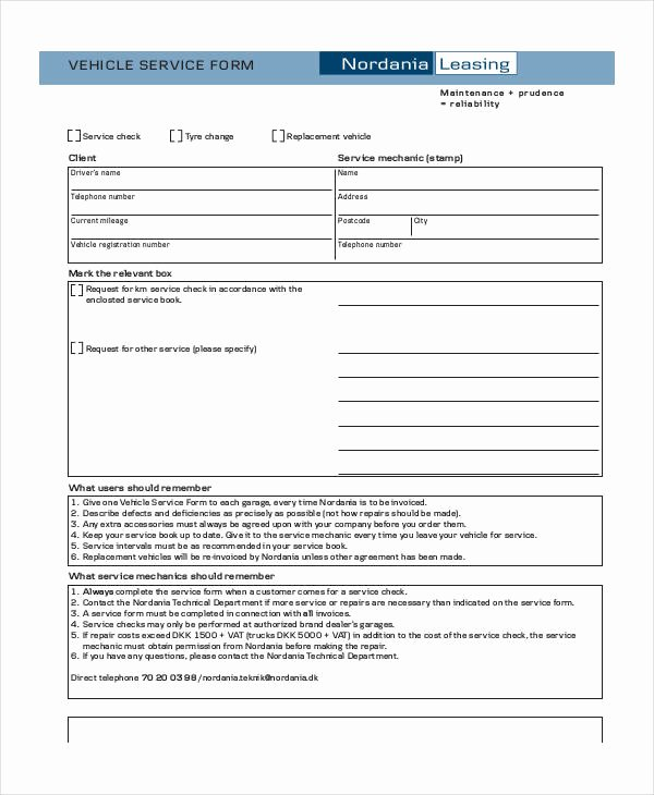 Service Request form Template Fresh Free 35 Service form In Templates
