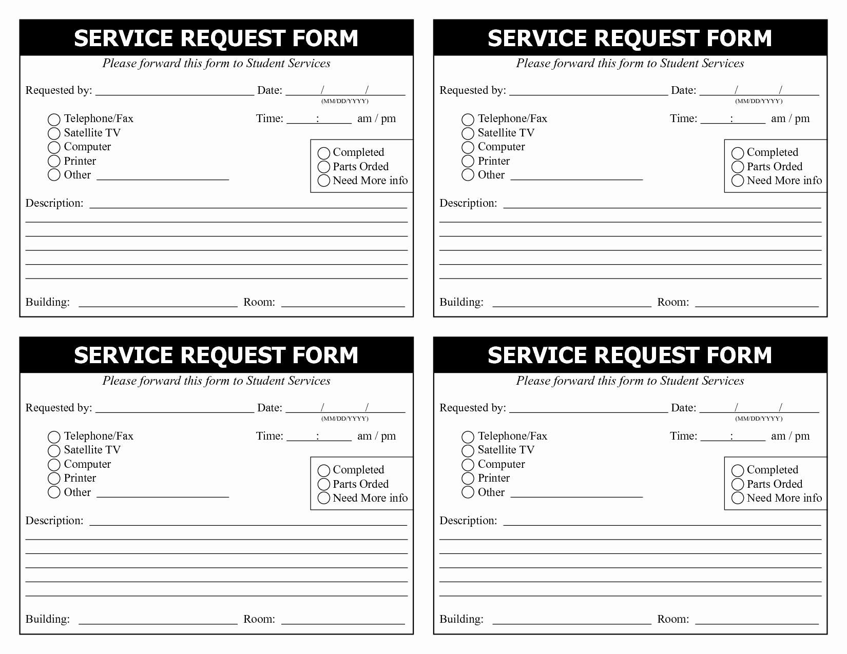 Service Request form Template Unique 28 Of Service Request Template