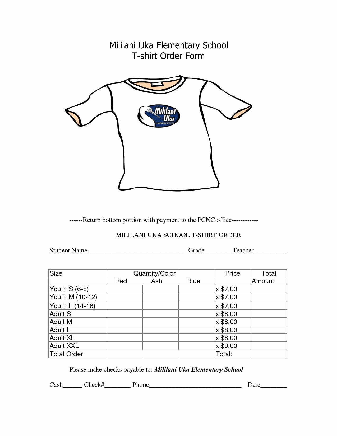 Shirt order form Template Elegant School T Shirt order form Template Clothes