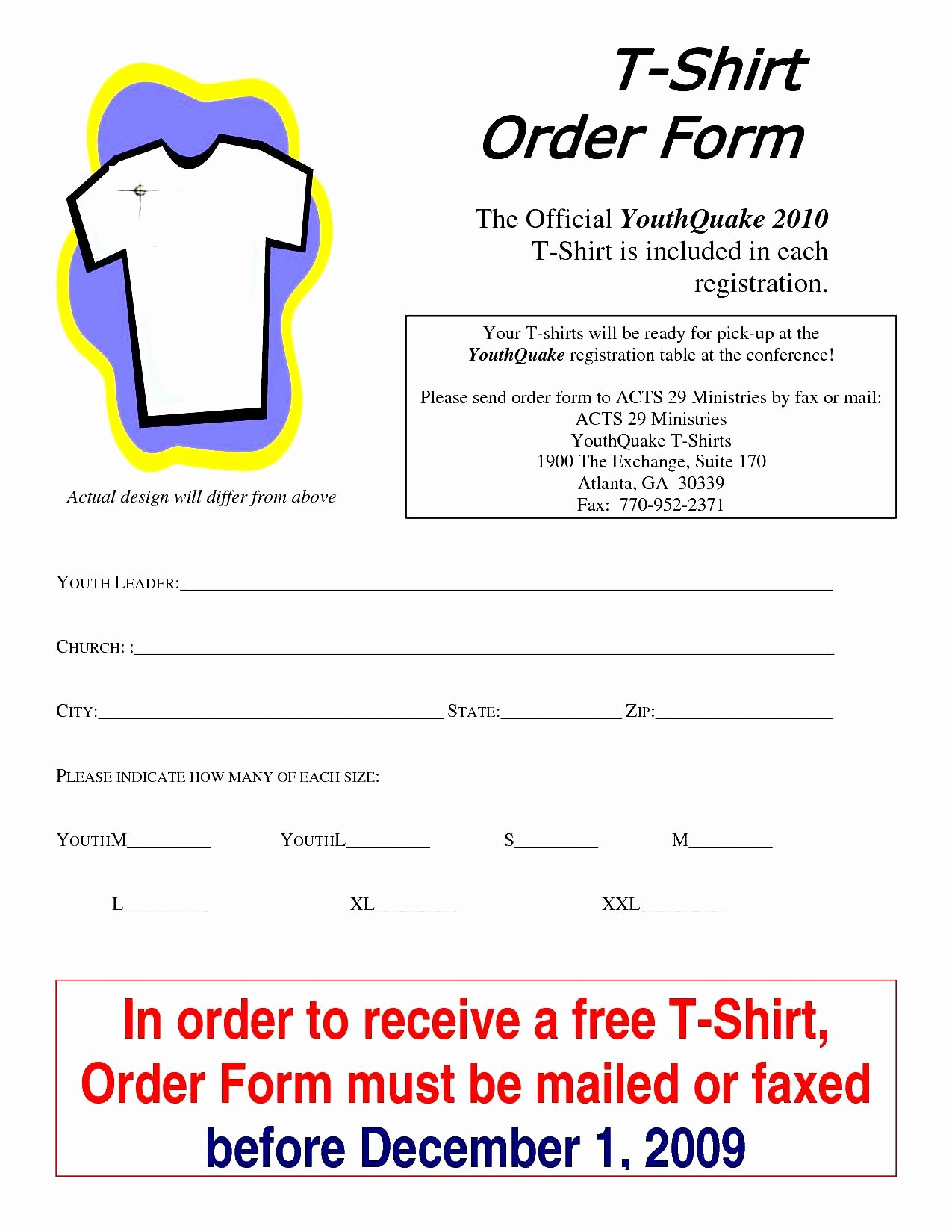 Shirt order form Template Lovely T Shirt order form Template