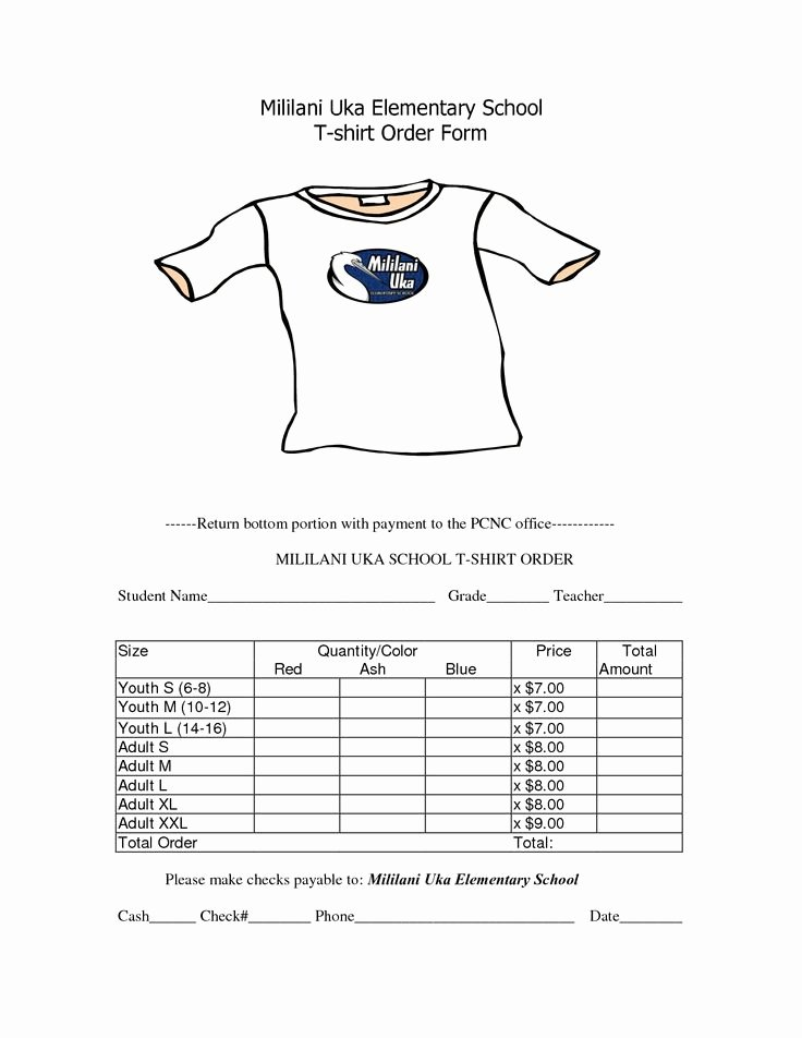 Shirt order forms Template Luxury School T Shirt order form Template Clothes