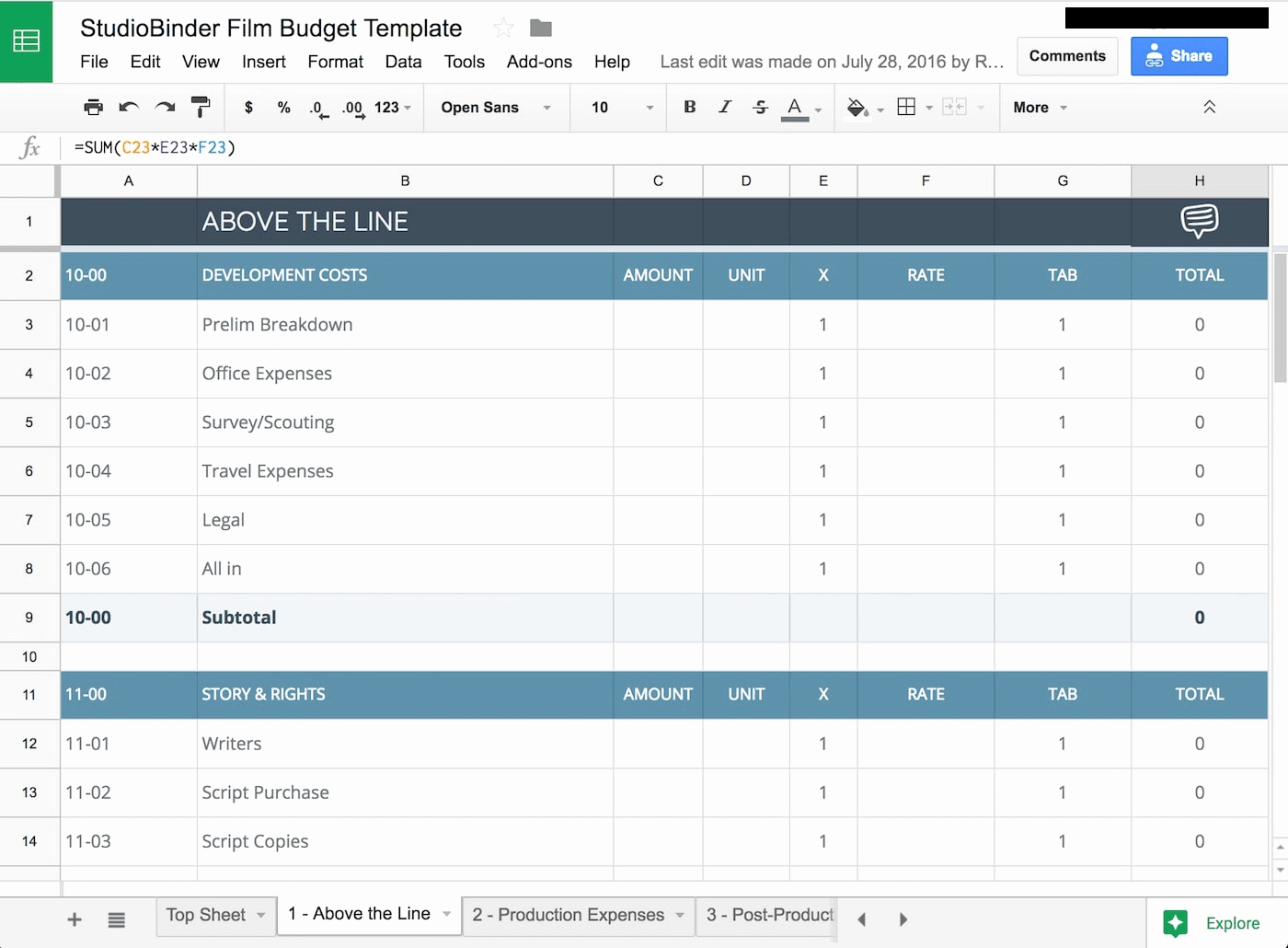 Short Film Budget Template Inspirational Download Your Free Bud Template for & Video