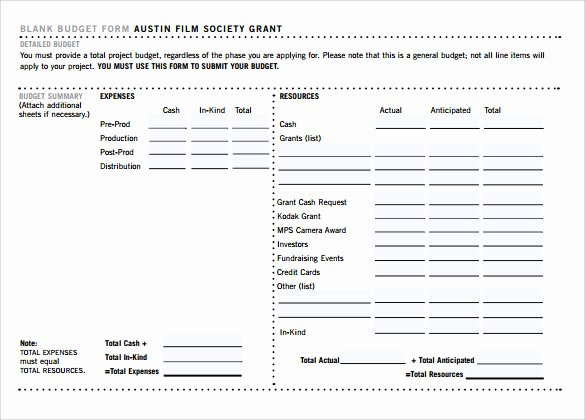 Short Film Budget Template New Sample Bud 8 Documents In Pdf Word
