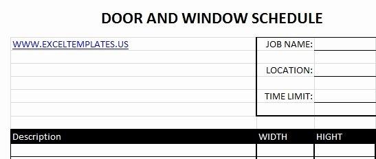 Siemens Panel Schedule Template Awesome Door Schedule Excel & Daily Teacehr Schedule Template Free