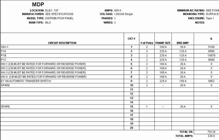 Siemens Panel Schedule Template Best Of 21 Panel Schedule Template Free Download