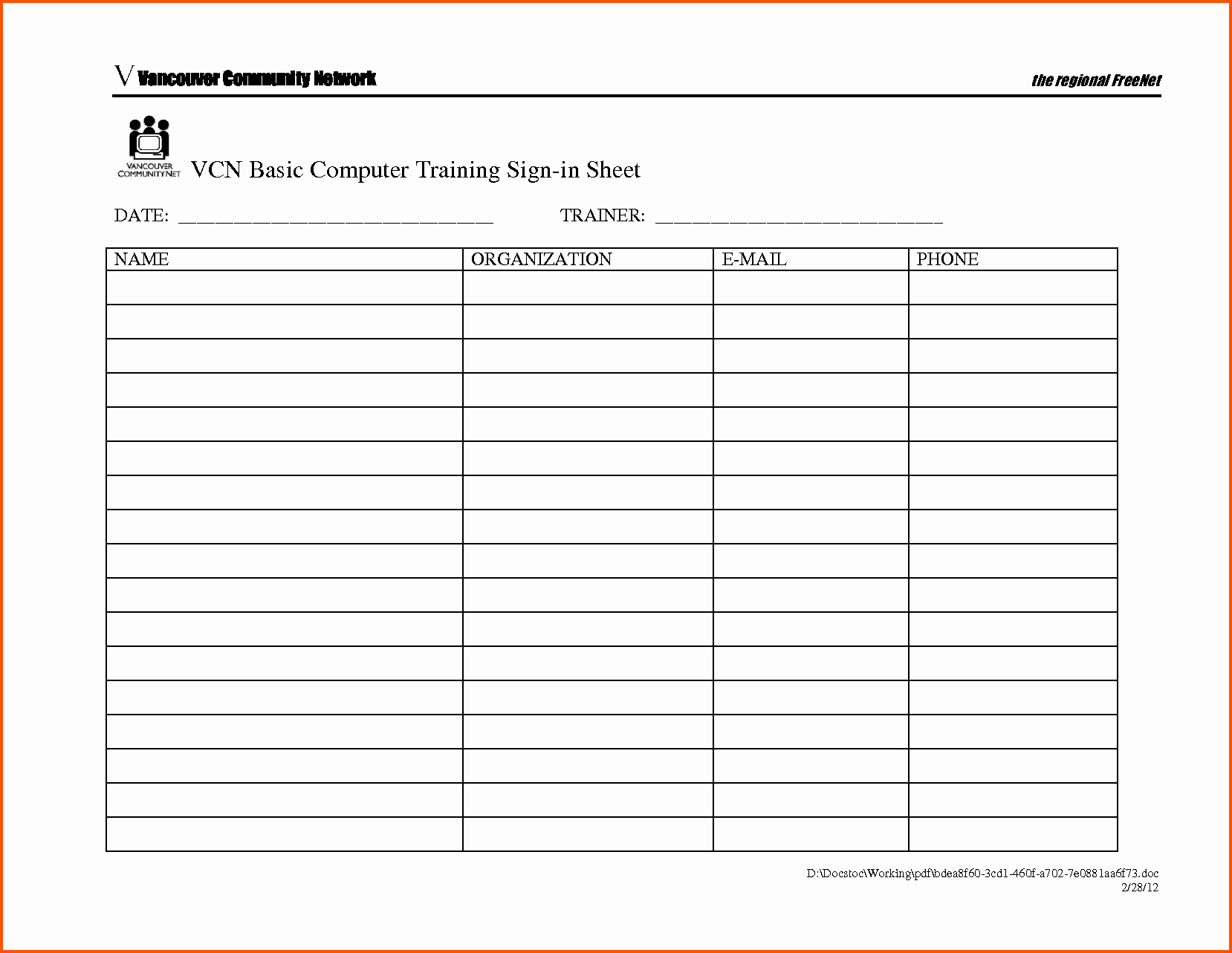 Sign In Sheet Template Doc Best Of 13 Sign In Sheet Doc