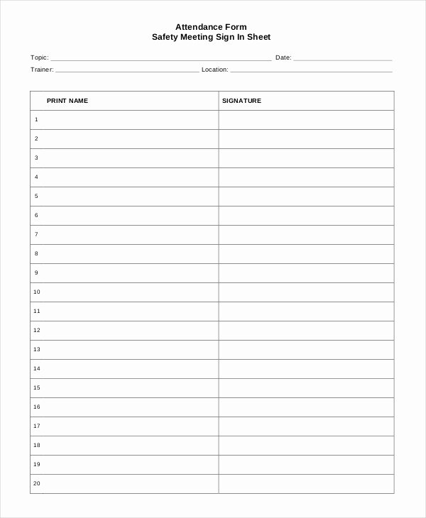 Sign In Sheet Template Doc Luxury Sign In Sheet 30 Free Word Excel Pdf Documents