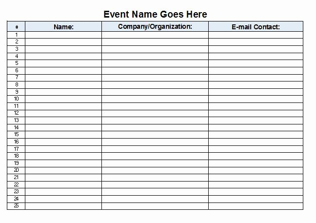 Sign Out Sheet Template Excel Awesome Sign In Sheet Template