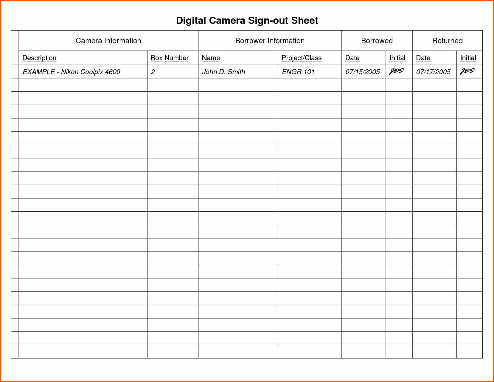 Sign Out Sheet Template Excel Elegant 13 Elegant Inventory Sign Out Sheet Excel Maotme Life