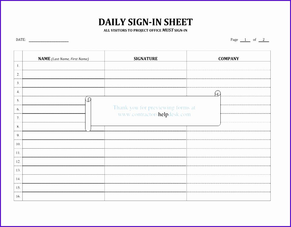 Sign Out Sheet Template Excel Elegant 8 Sign In Sign Out Sheet Template Excel Exceltemplates