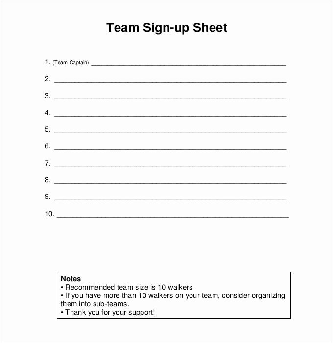 Sign Up Sheet Template Unique Sign Up Sheets 58 Free Word Excel Pdf Documents