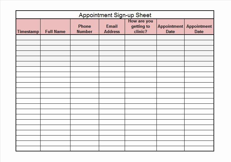 Sign Up Sheet Template Word Elegant 40 Sign Up Sheet Sign In Sheet Templates Word & Excel