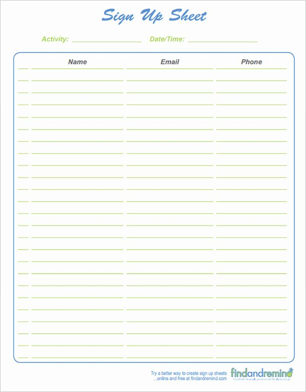 Sign Up Sheet Template Word Fresh 27 Sample Sign Up Sheet Templates Pdf Word Pages Excel