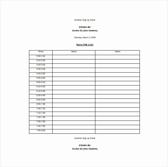 Sign Up Template Free Fresh 22 Sign Up Sheet Templates Free Sample Example format