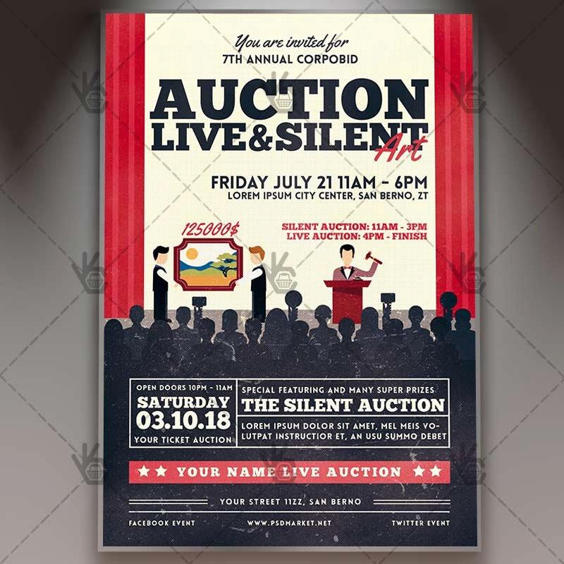 Silent Auction Item Description Template Beautiful Summer Lake Premium Flyer Psd Template