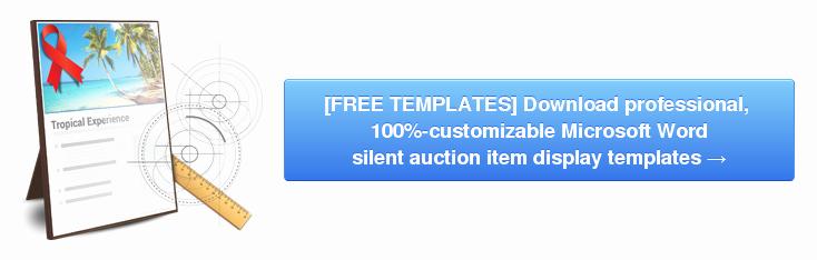 Silent Auction Item Description Template Elegant Writing Item Descriptions for A Silent Auction is Easier