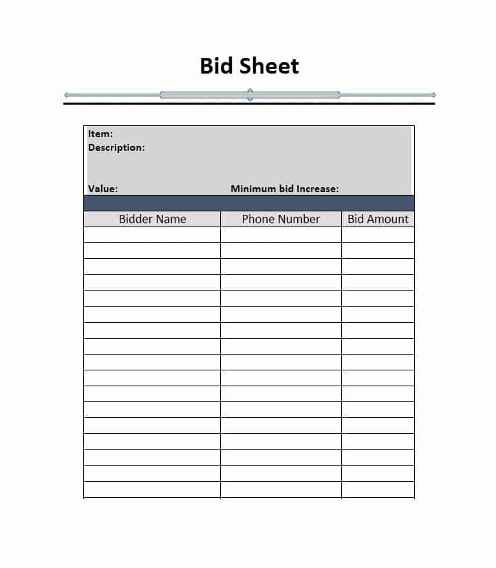 Silent Auction Sheet Template Beautiful Silent Auction Bid Sheet Template Free Word Printable