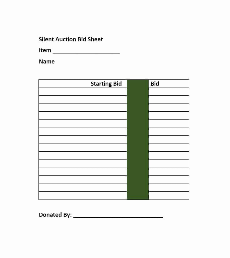 Silent Auction Sheet Template Fresh 21 Silent Auction Bid Sheets Free Download [word Excel] 2019