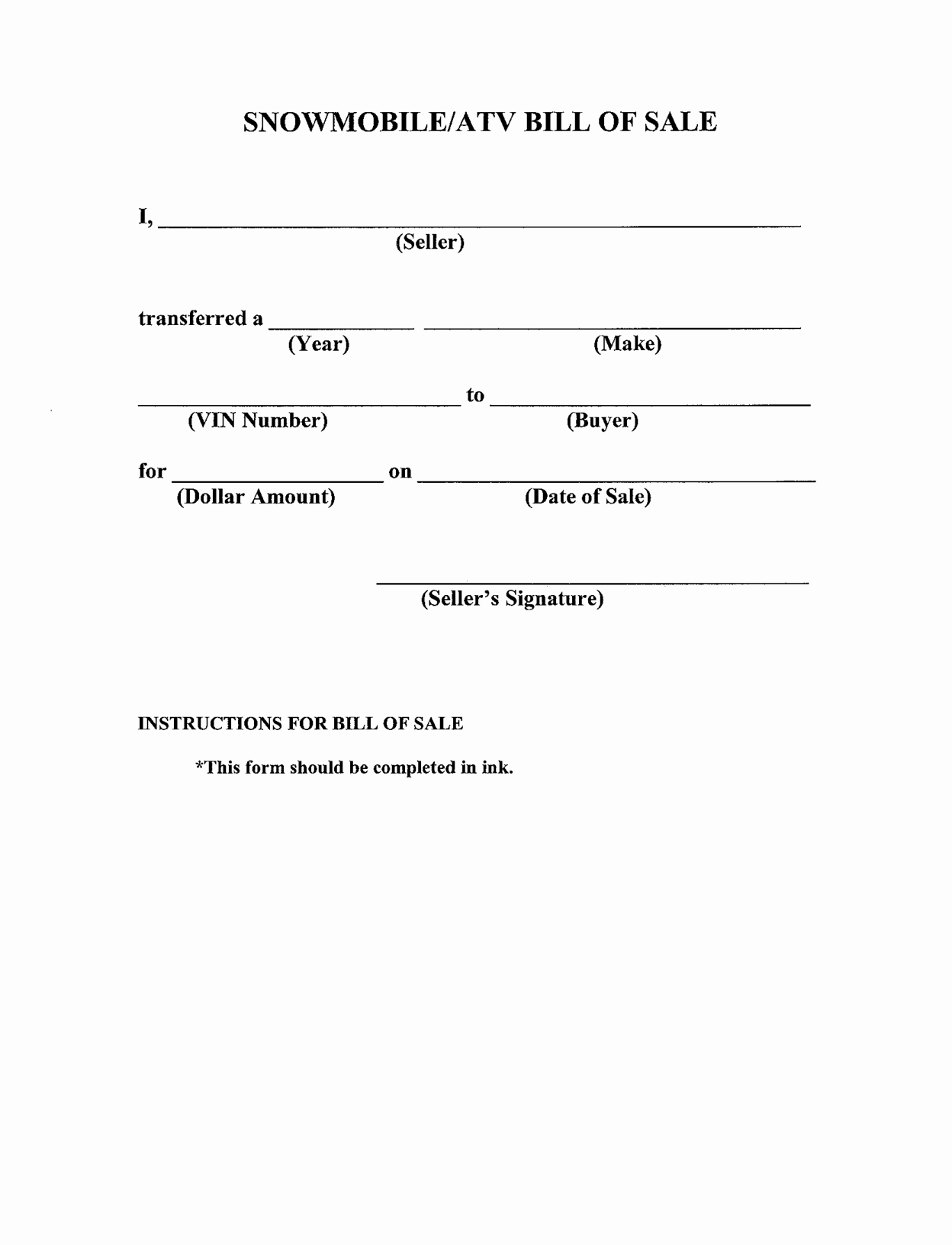 Simple Bill Of Sale Template Best Of Free Printable Bill Of Sale Templates form Generic