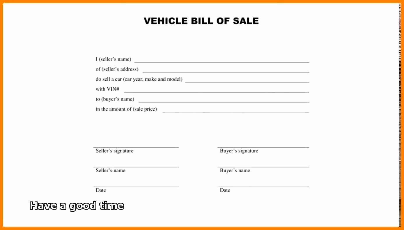 Simple Bill Of Sale Template Fresh Simple Bill Sale Template 2018