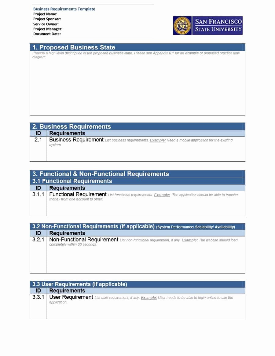 Simple Business Requirements Document Template Awesome 40 Simple Business Requirements Document Templates