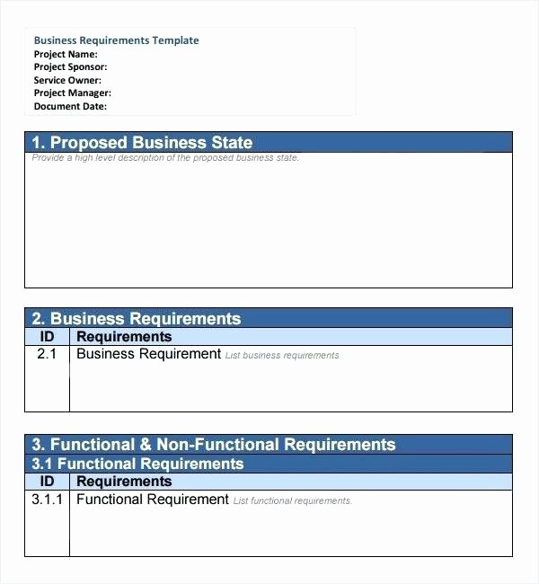 Simple Business Requirements Document Template Beautiful Simple Requirements Document Template – Bostonprivatetours