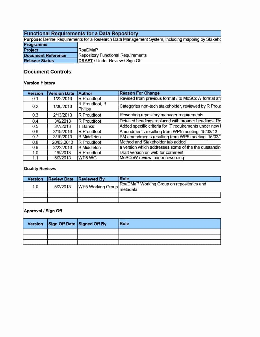 Simple Business Requirements Document Template Elegant 40 Simple Business Requirements Document Templates