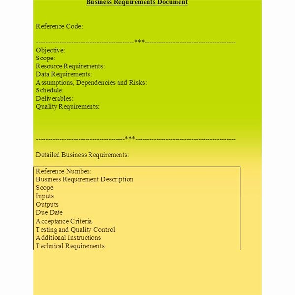 Simple Business Requirements Document Template Lovely 10 Tips for Preparing A Business Requirements Document