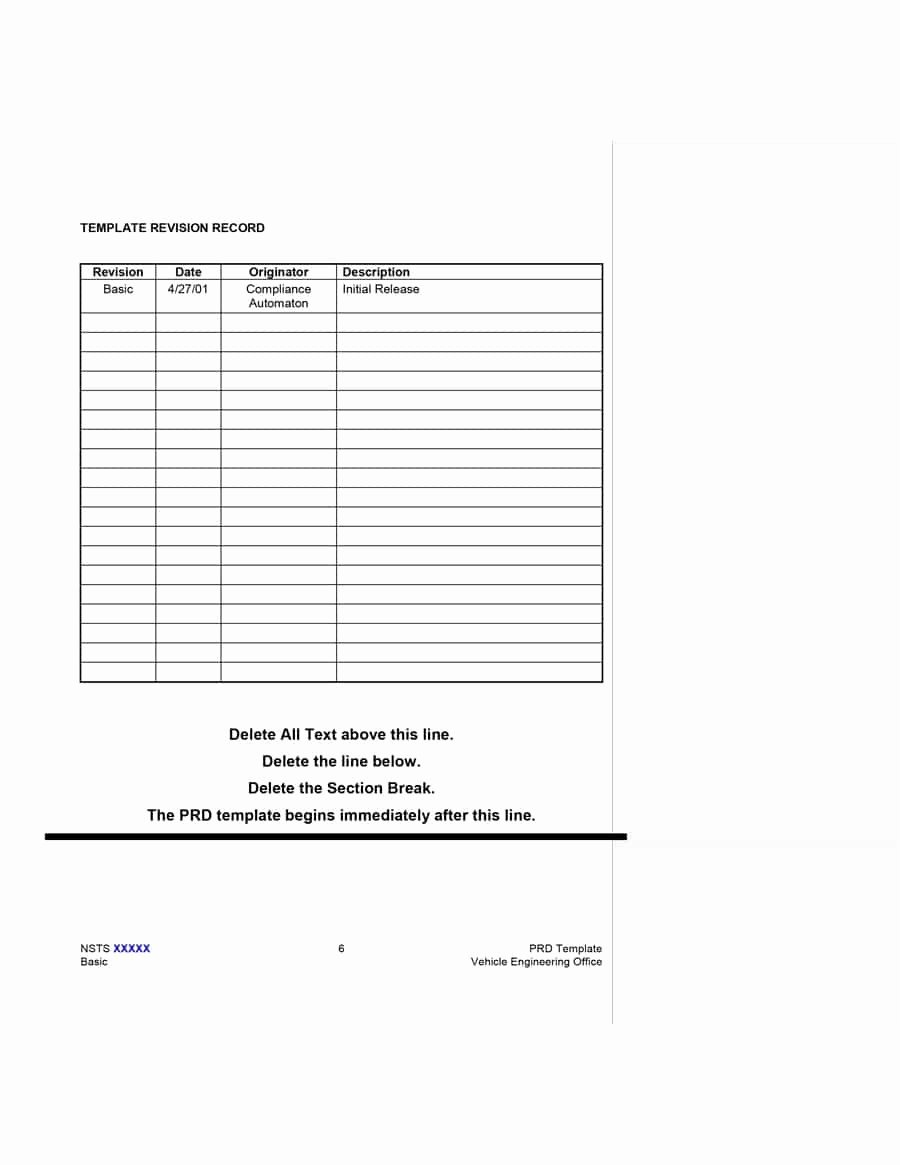 Simple Business Requirements Document Template New 40 Simple Business Requirements Document Templates