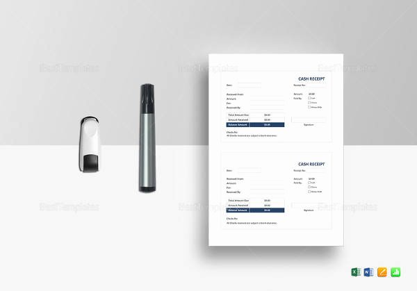 Simple Cash Receipt Template Lovely Down Payment Receipt Sample 16 Examples In Word Pdf