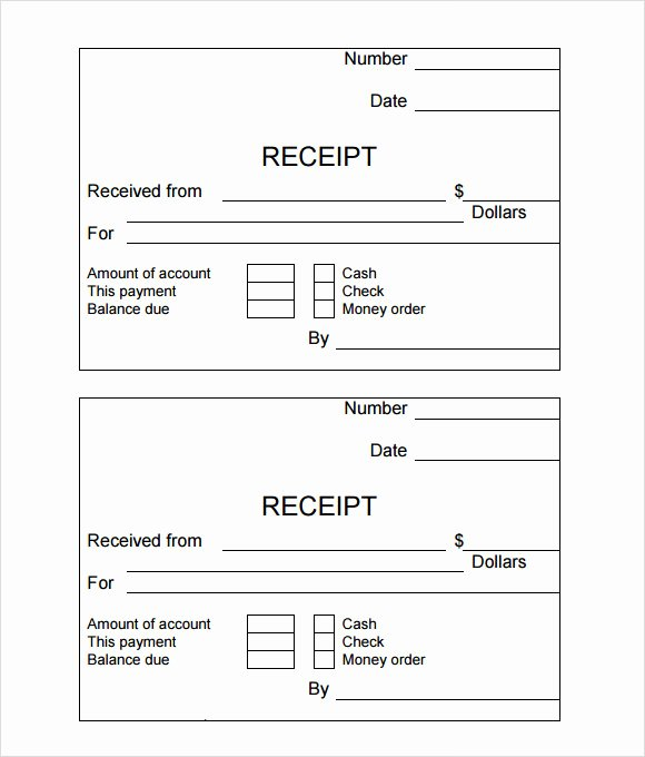 Simple Cash Receipt Template Unique Free 10 Simple Receipt Templates In Free Samples