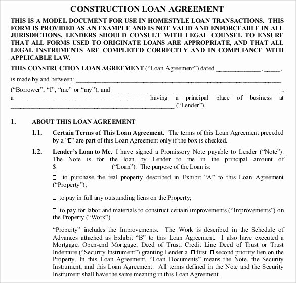 Simple Construction Contract Template Free Best Of 26 Great Loan Agreement Template
