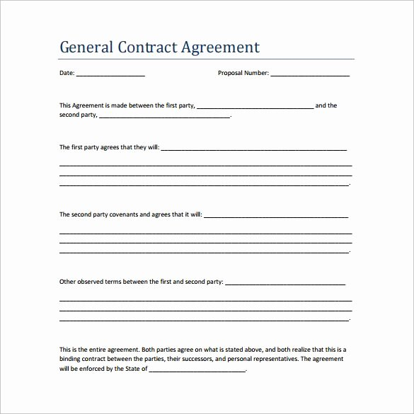 Simple Construction Contract Template Free Lovely Sample Contract Agreement 13 Free Documents Download In