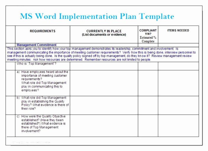 Simple Implementation Plan Template Best Of Simple Implementation Plan Template to Pin On